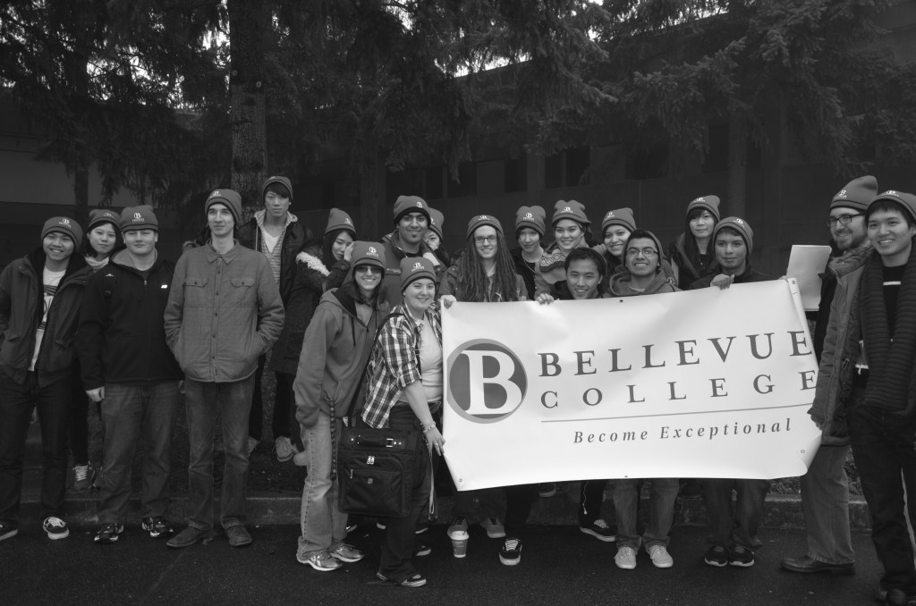 Above: Over 30 BC students gathered to participate in the annual MLK Day March in Seattle. The event was organized by Michael Yoon.