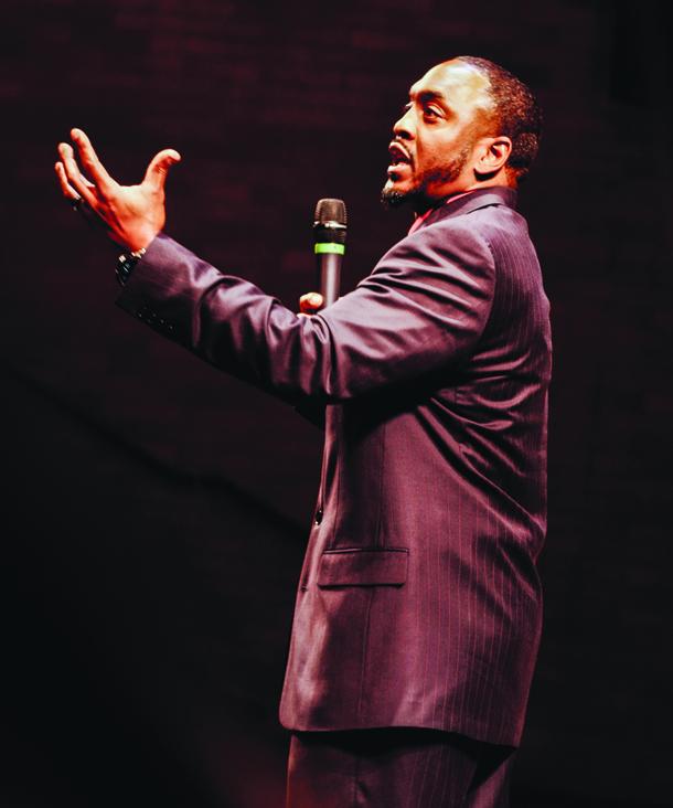 Highline College's Rashad Norris speaks at BOOM