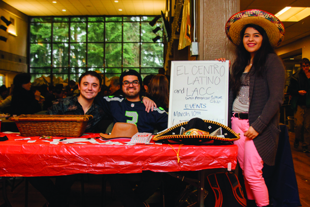 Members of El Centro Latino and LACC at the open house in January