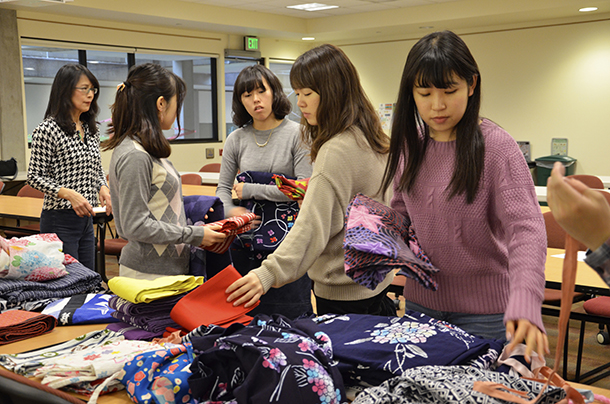 Event attendees picking out their favorite styles.
