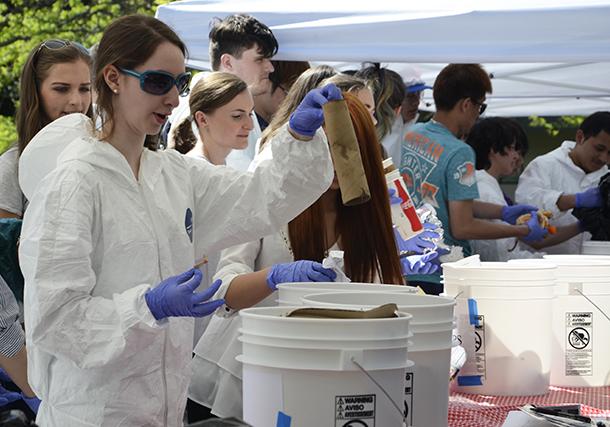 BC community separates waste into designated buckets.