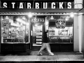 historical photo of first Starbucks shop