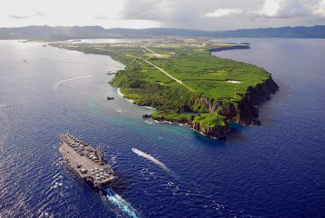 aircraft carrier by Guam