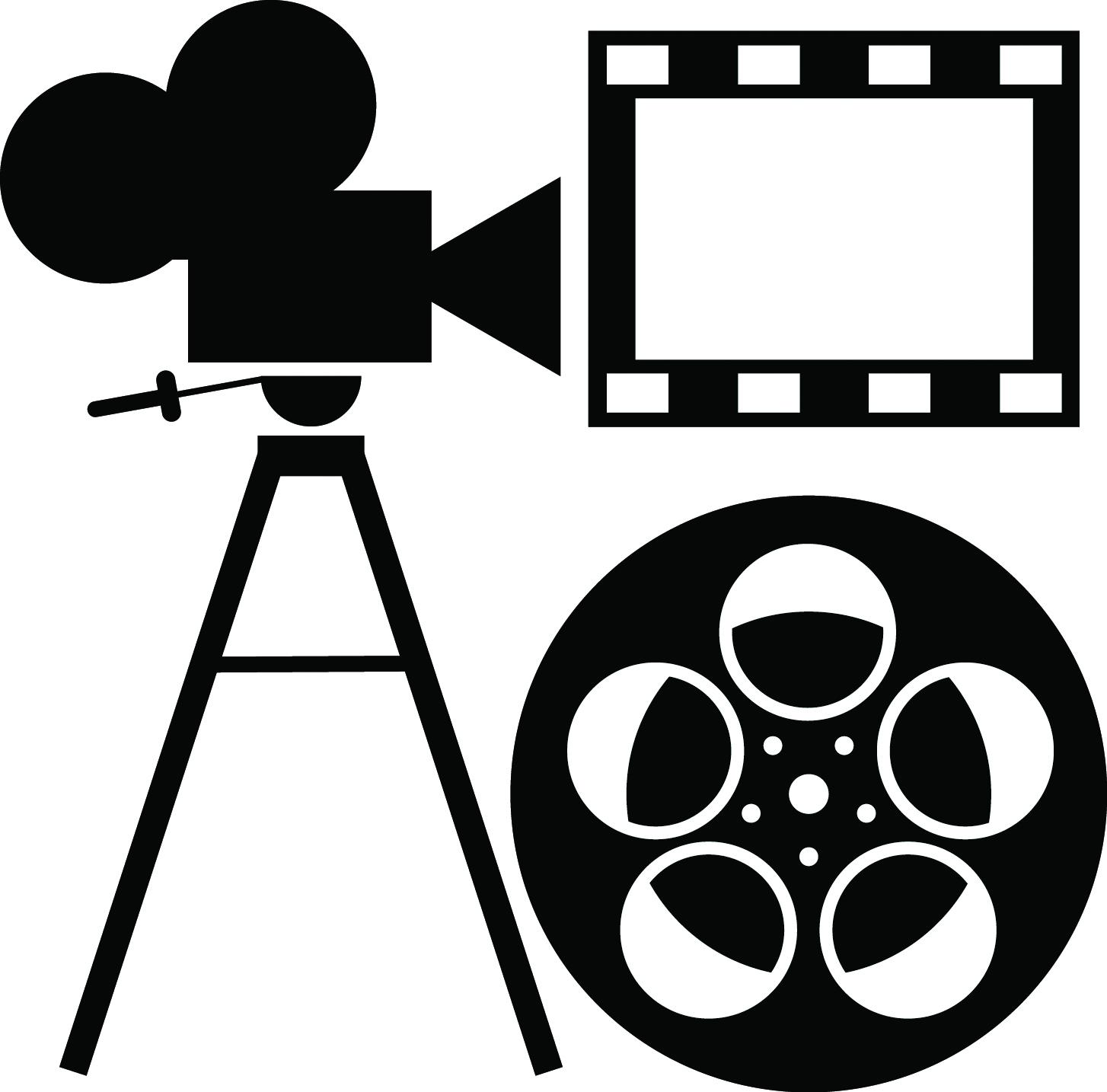 illustration of film projector