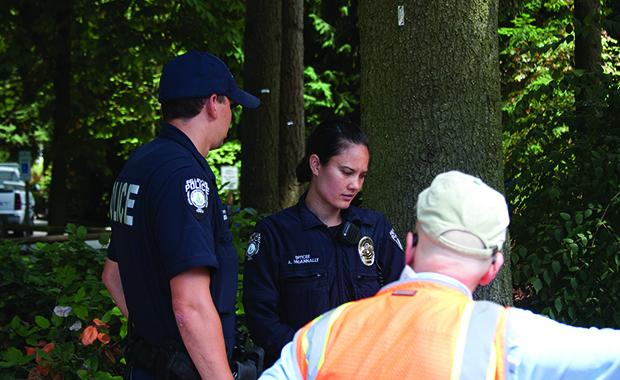 Bellevue police at scene