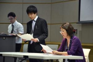 Students present nursing practices in Japan. Alyssa Brown / The Watchdog