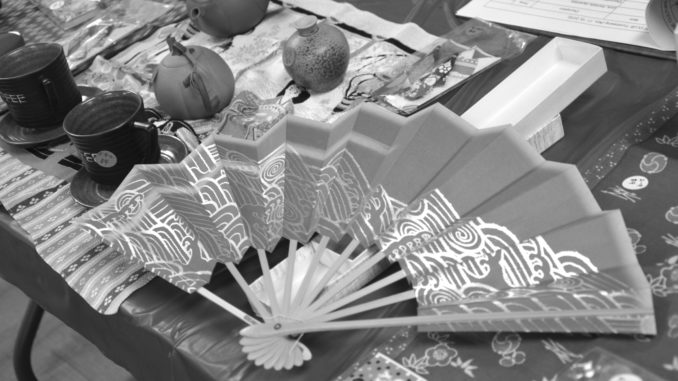 Japanese-style arts and crafts at the fundraiser. Alyssa Brown / the Watchdog