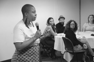 Chef Kristi Brown speaks about starting her business. Alyssa Brown / the Watchdog
