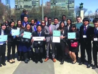Students at Model UN