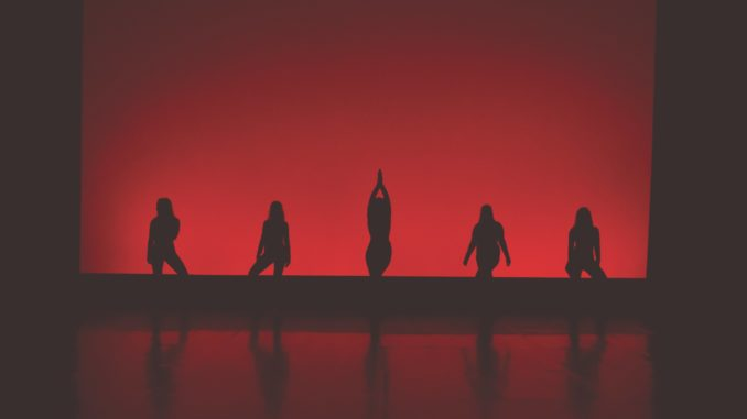 Dancers silhouetted