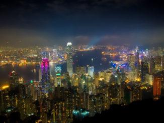 Hong Kong skyline from above